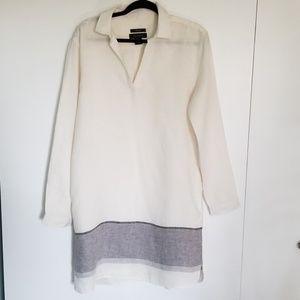 NWOT - Tahari White Linen Shirt Dress
